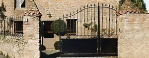 Portail 3 50m : portail coulissant de ch teau en acier noir photo 10 20 ~ Premium-room.com Idées de Décoration