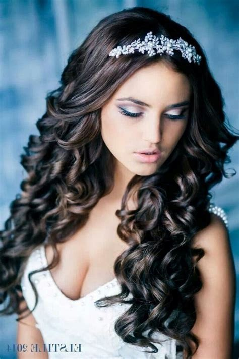 The Stylish wedding hairstyles for long hair down with