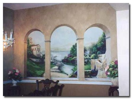 brand spankin new trompe l oeil and murals painted by effects