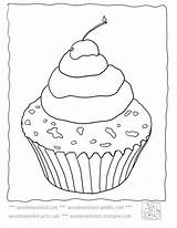 Template Coloring Cupcake Pages Sprinkles Adult Templates Cupcakes Printable Wonderweirded Food Deserts Activities Plain Zapisano sketch template