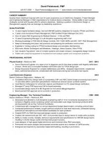 summary in resume for electrical engineer resume program manager