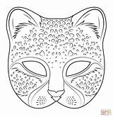 Mask Pages Coloring Mayan Cheetah Template Printable Templates sketch template