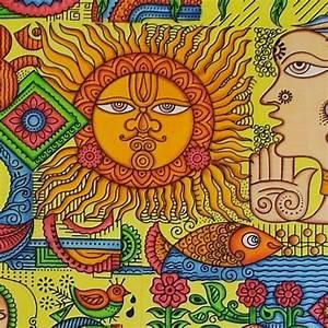 Tenture Murale QuotSoleil Multicouleurquot Sur