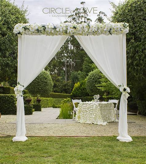 Garden Decoration Melbourne by Garden Wedding Arch Www Circleofloveweddings Au