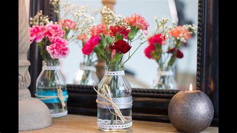 bricolage facile diy vase champetre centre de table