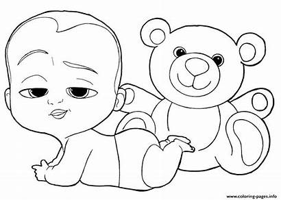 Coloring Boss Printable Babies Sheets Boy Tegninger
