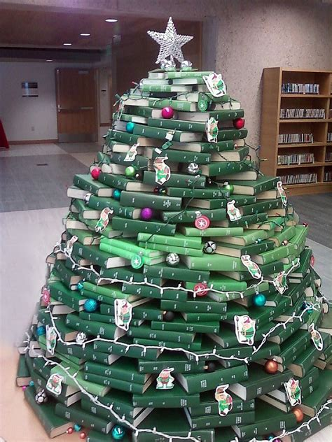 library christmas trees   books  bound journals