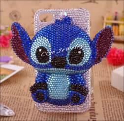 3D cute cartoon Stitch rhinestone phone case for iphone 4/4s 3D rhinestone phone housing for iphone 4/4s 249