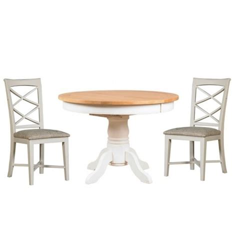 cross back chair dining room table padstow off white round extending dining table 4 cross