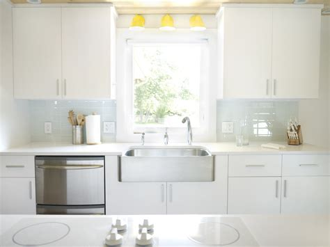 white kitchen glass backsplash white glass subway tile modwalls lush cloud 3x6 tile