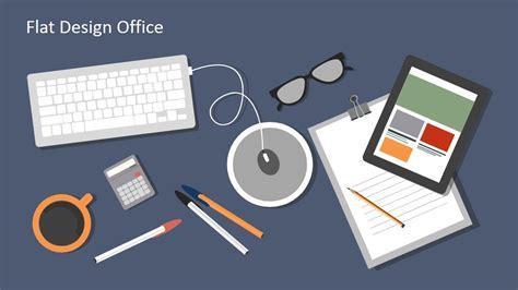 flat design office powerpoint templates slidemodel