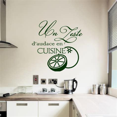 stickers cuisine design sticker un zeste d 39 audace en cuisine design stickers