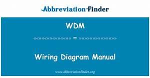 Wdm Definici U00f3n  Manual De Diagrama De Cableado