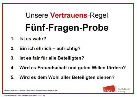 Karl Schlecht Die 5FragenProbe