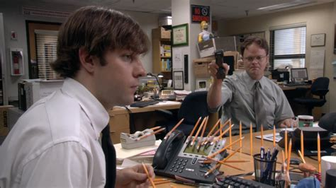 Dwight Standing Desk Episode by The Office Top 10 Pranks Ign