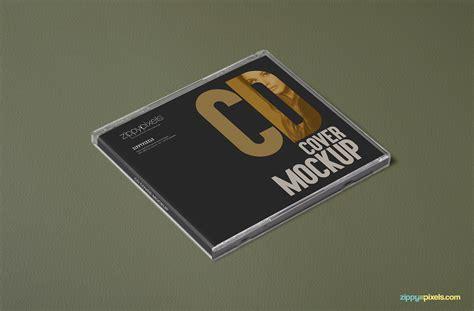 free cd cover free plastic cd mockups zippypixels