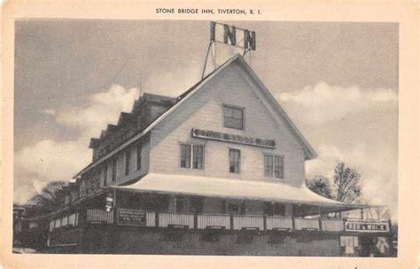 tiverton rhode island bridge inn antique postcard