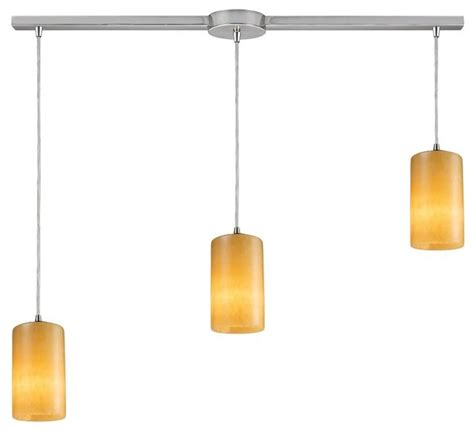 three light satin nickel multi light pendant