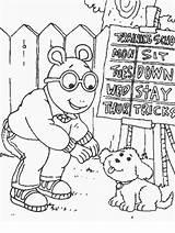 Arthur Coloring Pages Cartoons Cartoon Aardvark Thanksgiving Library Characters Coloringpagebook Printable Fun Comics Clipart Arthurs Borders Popular Snoopy Fictional Peanuts sketch template