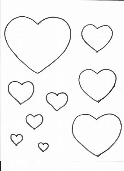 Template Heart Printable Hearts Templates Bee Coloring