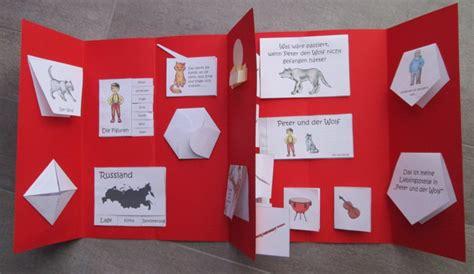lapbook peter und der wolf zaubereinmaleins designblog
