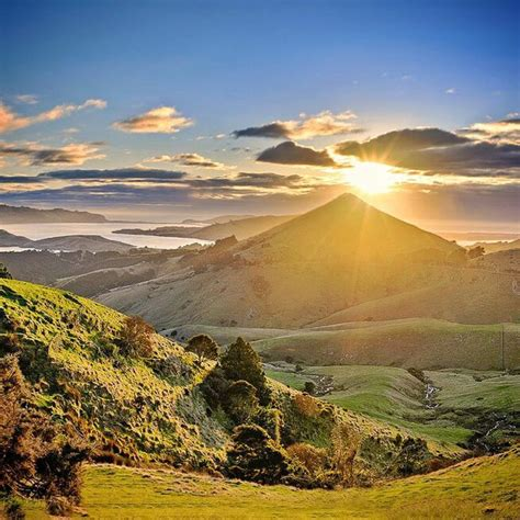 Otago Peninsula Otago New Zealand Sunrise On The Otago