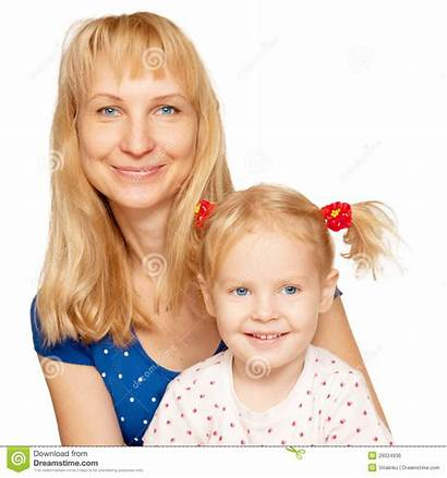 Daughter Mother Faces Happy Blond Royalty Close