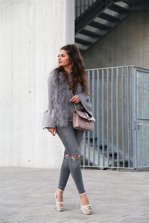 Outfit Grey And Nude Fashionhippieloves