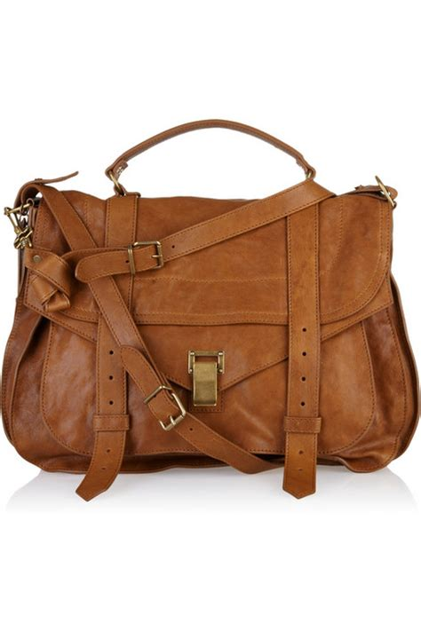 Brown Leather Travel Bag Purse Proenza Schouler Ps1 Large Caramel Brown Leather