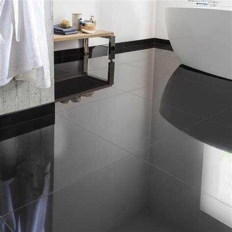 carrelage cuisine noir brillant carrelage sol et mur noir effet uni l 60 x l 60 cm