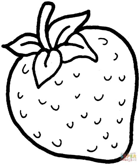 sweet strawberry coloring page  printable coloring pages