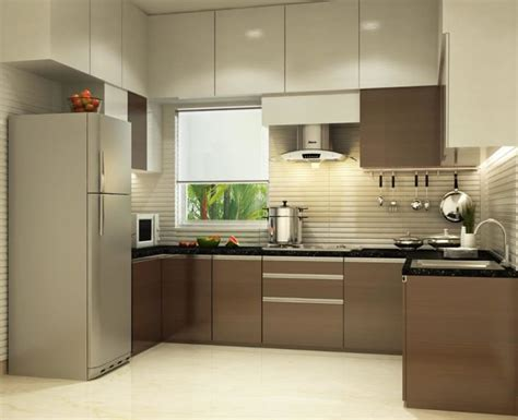 kitchen interior design ideas photos u shaped kitchen with modern cabinets and false ceiling by 8131