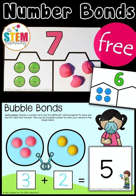 Handson Number Bond Activities  Hands On Math Activities  Pinterest  Math, Kindergarten Math