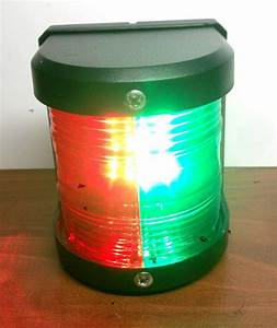 Marine Boat Red  U0026 Green Bow Led Navigation Light Waterproof 2 Nautical Miles