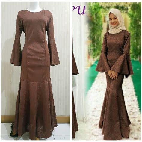 jual baru gamis modern liyani ori pu gaun pesta muslim dress pesta wanita murah di lapak nur