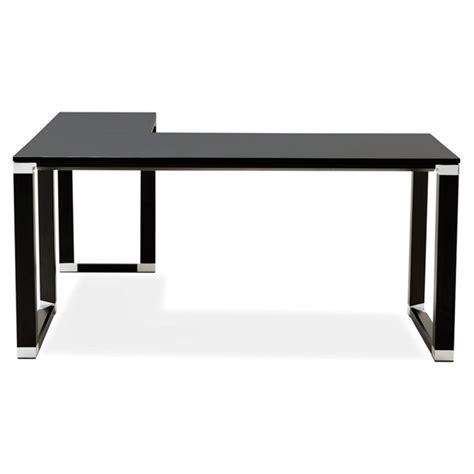 bureau noir design bureau d 39 angle design quot hovik quot bois noir