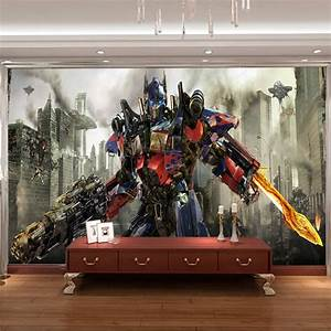 transformers photo wallpaper 3d optimus prime wall mural With cool transformer wall decals for boys room