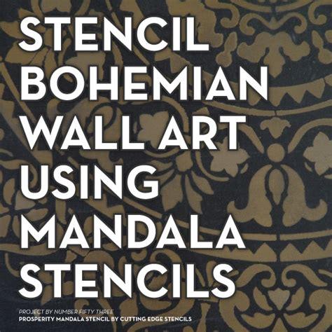 stencil bohemian wall art  mandala stencils stencil