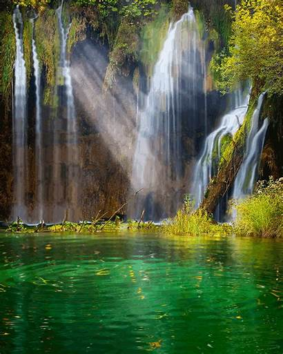 Waterfall Tropical Giphy Nature Waterfalls Gifs Animated