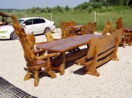 Tische Massivholz Günstig : rustikale tische mit b nken aus massivholz g nstig in ~ Pilothousefishingboats.com Haus und Dekorationen