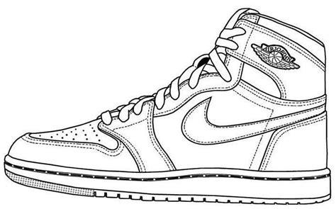 air jordan shoes coloring page  print halaman mewarnai