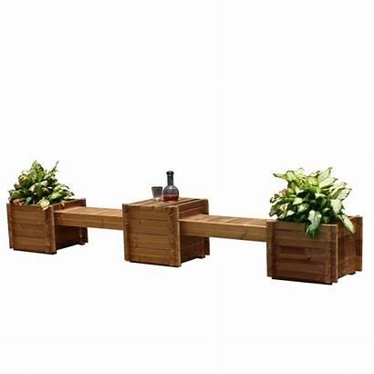 Wood Plant Pots Bench Planter Planters Contessa