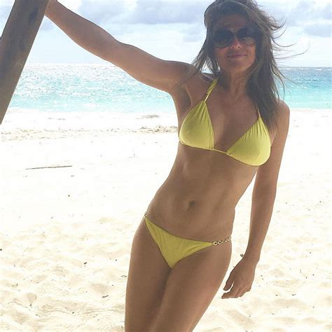 Wowza Check Out Year Old Elizabeth Hurley S Bikini Photos Elizabeth Hurley Beach