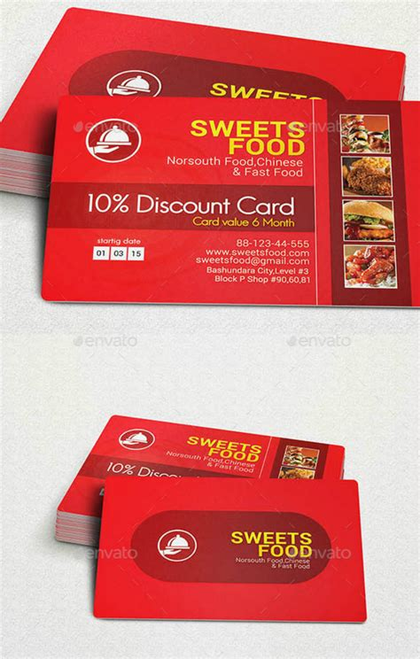 compelling restaurant discount card designs