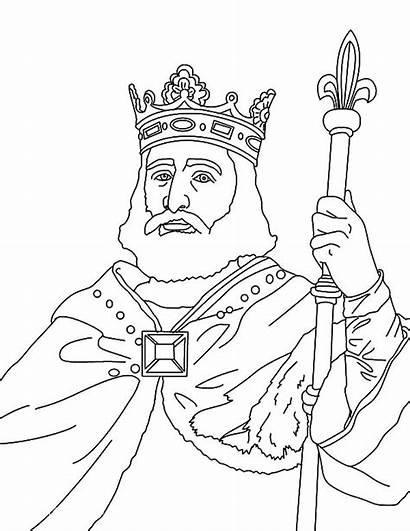 King Coloring Pages Charles Martel