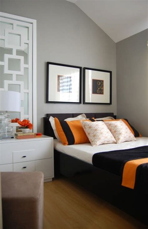 zannesy orange gray room  bedroom painted  gray