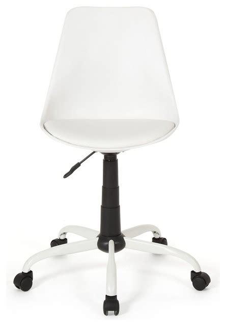 chaise bureau alinea touty chaise de bureau dactylo design blanche