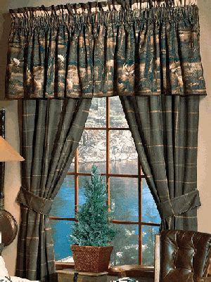 curtains for cabins moose mountain rustic drapes curtains valances and pillows