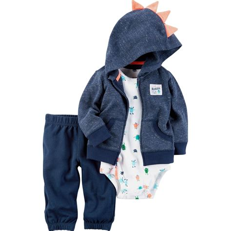 carters infant boys blue dino  pc cardigan set baby boy   months baby toys shop