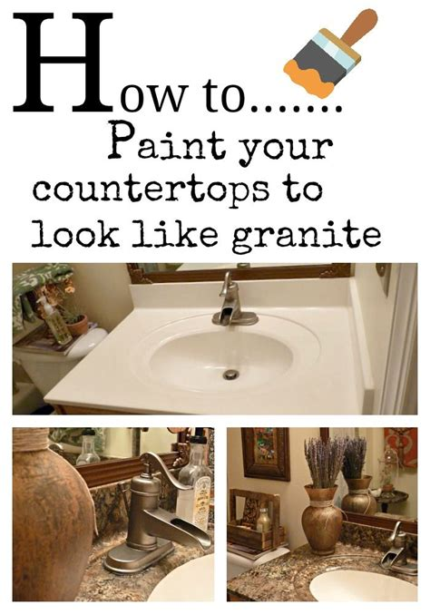 how to paint your counter tops to look like granite and
